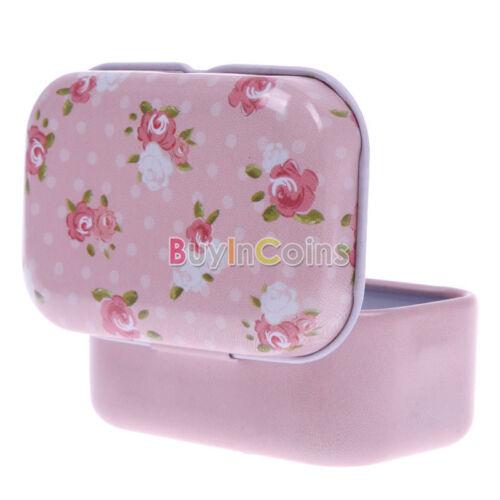 Metal Iron Tin Jewelry Pill Card Case Box Storage Bag Gift Decor