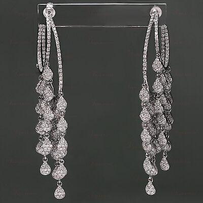 18k White Gold Gorgeous Diamond Chandelier Earrings