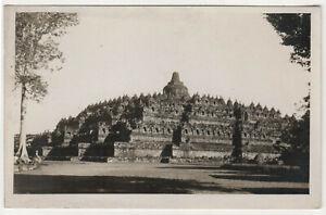 BOROBUDUR-Barabudur-INDONESIA-RPPC-RP-Real-Photo-Postcard-TEMPLE-Buddhist-BUDDHA