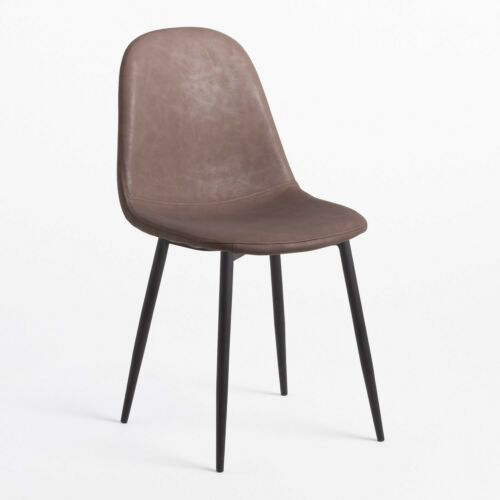 Trend Leatherette Chair- Chocolate & Black Legs . Free Delivery.