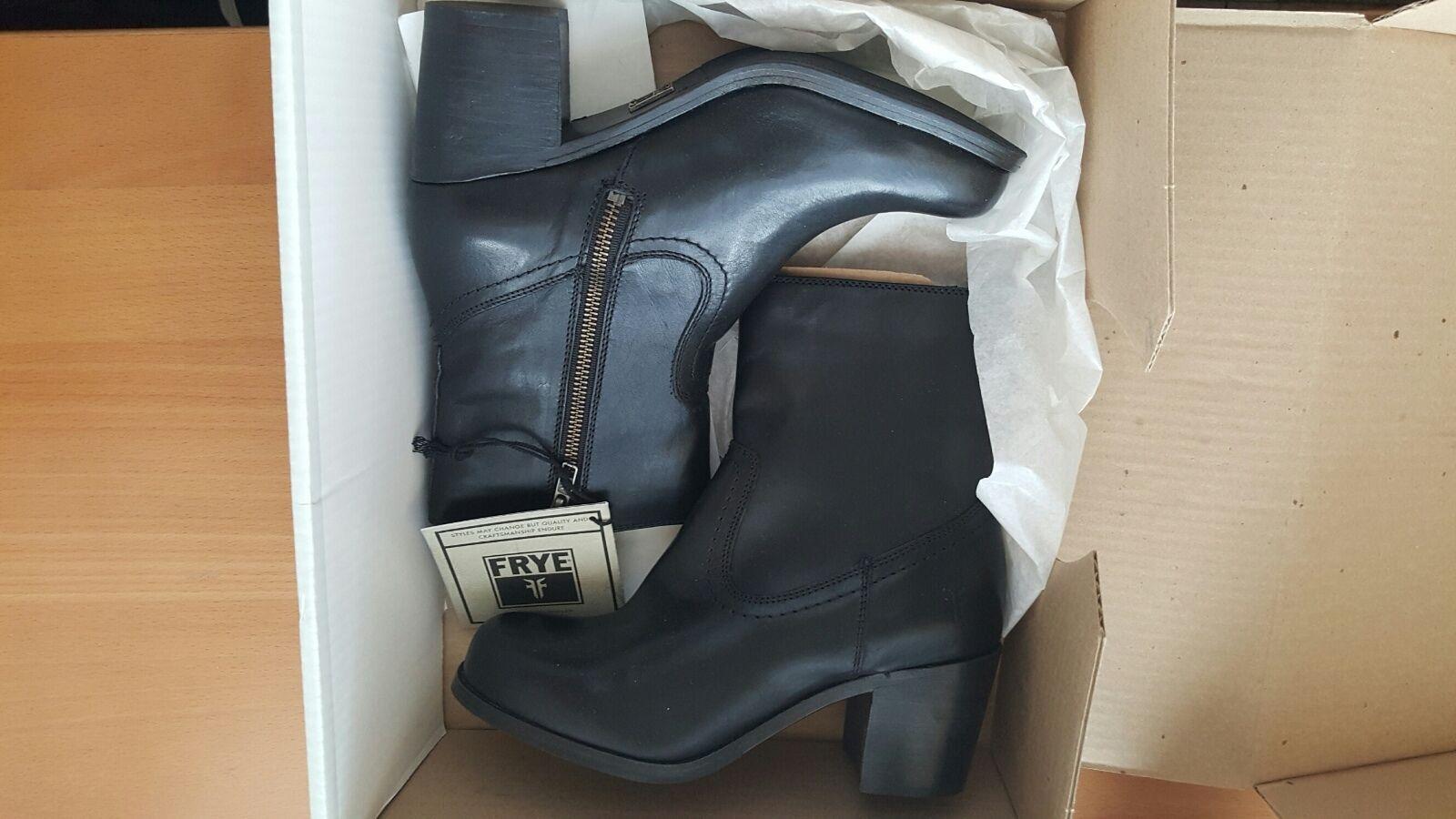 FRYE Kendall NIB short zip boots shoes black US 7.5