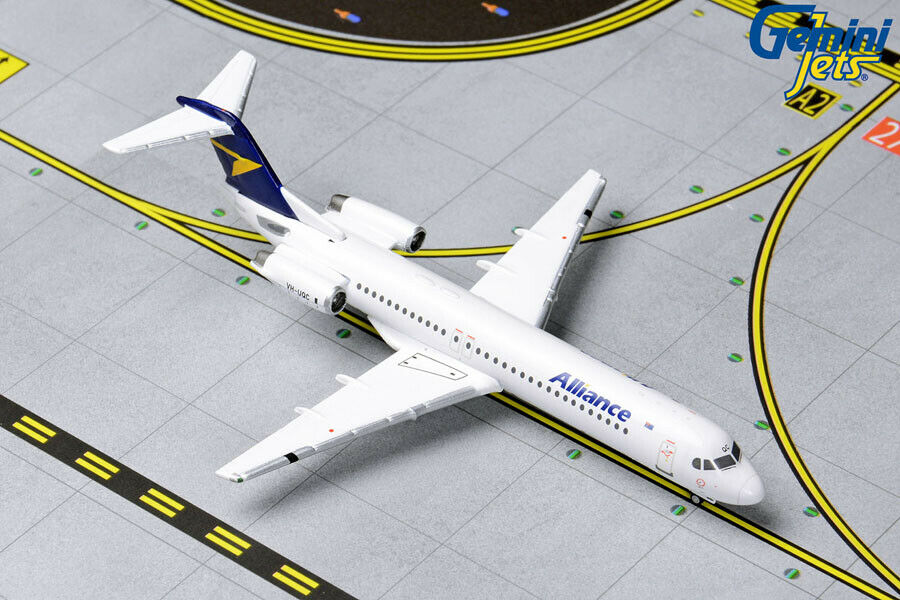 Gemini Jets 1 400 Scale Alliance Airlines Fokker 100 VH-UQC