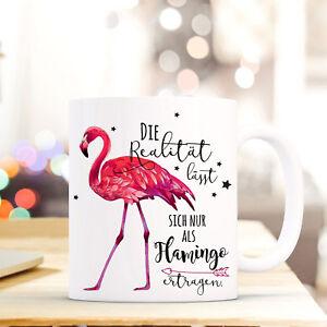 Sammlung Hier Tasse Becher Kaffeebecher Flamingo Spruch Realität Geschenk Motto Spruch Ts686 Kindergeschirr & -besteck