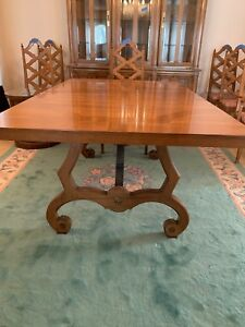 Thomasville Dining Table 3 Leaves Covers 6 Chairs 1964 Vintage