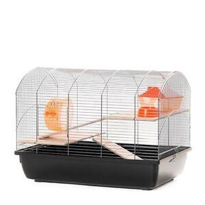 Cage Souris A Hamster à Rongeur 59x36x43 Cm Chrome Noir Avec Accessoires Drxsikzk-10040745-591958475
