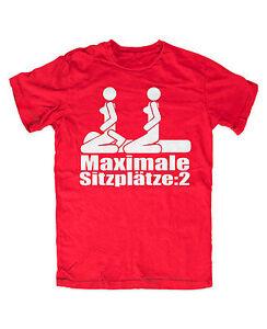 Details Zu Maximale Sitzplätze 2 T Shirt Rot Dreier Lustig Sprüche Kult 69 Herrentag Männer