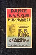 B.B. King Tour Poster 1966 Clarksville Tenn D.A.V. Club