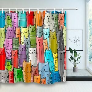 Cat Lover Shower Curtain Funny Animals