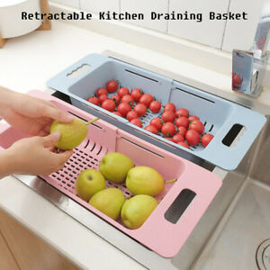 Kitchen-Filter-Dish-Rack-Sink-Retractable-Flexible-Plastic-Fruit-Drain-Basket