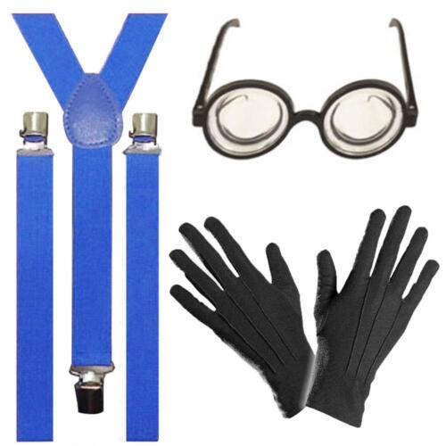 Minion Fancy Dress 3pc Movie Film Party Costume Fancy Dress Glasses Braces Glove