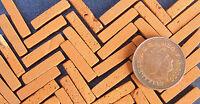 100 Dolls House Miniature Hand Made Tudor Brick Slips Garden Accessory