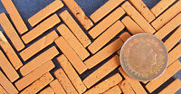100 Dolls House Miniature Hand Made Tudor Brick Slips Garden Accessory