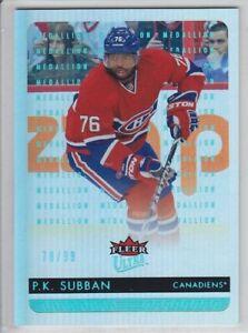 2014-15-FLEER-ULTRA-P-K-SUBBAN-PLATINUM-78-99-MEDALLION-99-PARALLEL-Canadiens