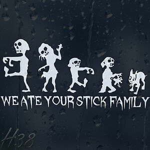 We-Ate-Your-Stick-Family-Zombie-Car-Decal-Vinyl-Sticker-For-Window-Panel-Bumper