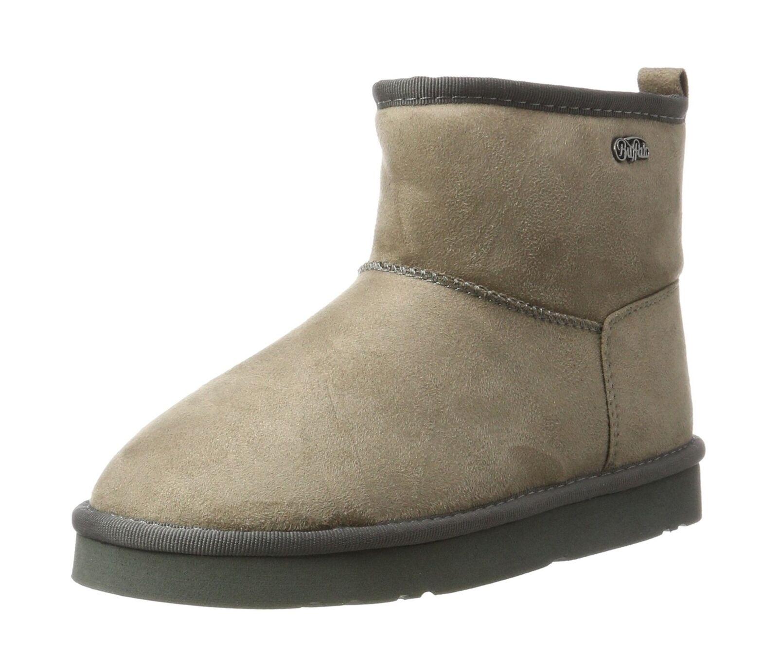 Buffalo Damenschuhe 334774 Micro Fiber 77# Hatching Stiefel Grau (Grau 01) 6.5 UK