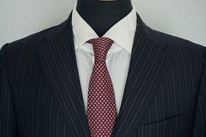 Saks-Fifth-Avenue-x-Zegna-Cloth-Navy-Blue-Striped-2-Piece-Suit-Jacket-Pants-36S