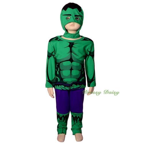Incredible Hulk Avenger Superhero Fancy Costume Halloween Size 2 3 4 5 6 #033