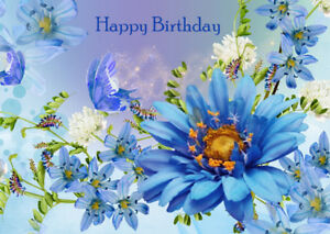 Image Is Loading FEMALE LADIES HAPPY BIRTHDAY GREETINGS CARD FLOWERS AND