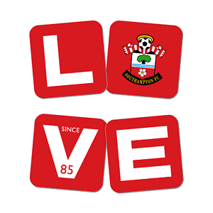 Charmant Southampton F.c - Personalised Coasters (love) Couleur Rapide
