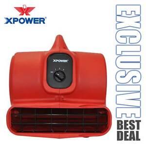 XPOWER P-430 1/3 HP 2000 CFM 3 Speeds Air Mover Carpet Dryer Blower Floor Fan