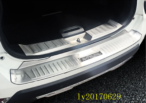 2x-Stainless-Steel-Rear-Bumper-Sill-Plate-Trim-For-Nissan-X-Trail-Rogue-2017