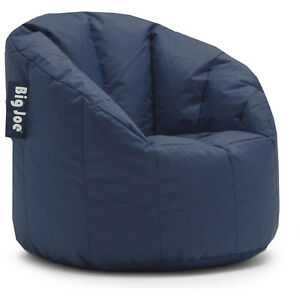 Lightweight Bean Bag Chair Navy College Dorm Room Kids Video Gaming