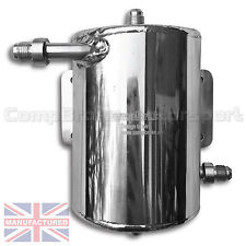 Bulk Head Mount 1 Ltr Fuel Swirl Pot with JIC Fittings Rally Race Track CMBSP001