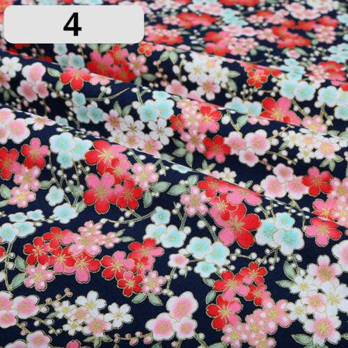 Japanese Sakura Fortune Cat Table Cloth Fabric Wave Pattern Kimono Sewing