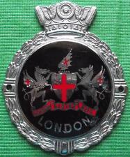 Superb Vintage Car Mascot Badge Chrome Enamel : London England Crest by Gaunt