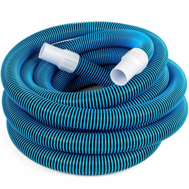 Swimming Pool Deluxe 30FT No Kinks Vacuum Hose w/ Swivel Cuff 1 1/2  sc 1 st  eBay & Swimming Pool Deluxe 30ft No Kinks Vacuum Hose W/ Swivel Cuff 1 1/2 ...