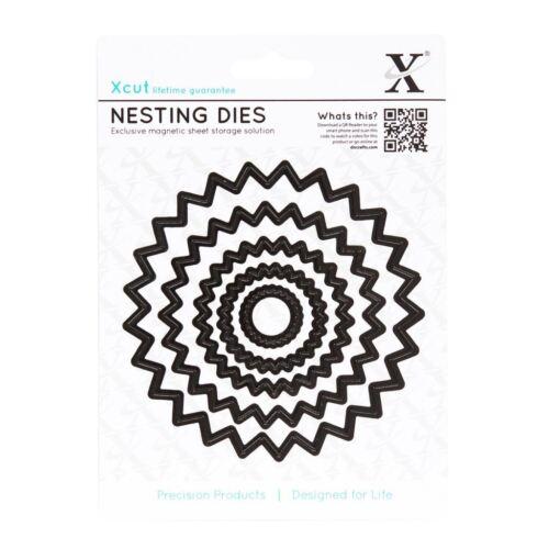Xcut Nesting Dies 5pcs Spiro Circle Xcut Emboss Shim Cut Detail Stencil