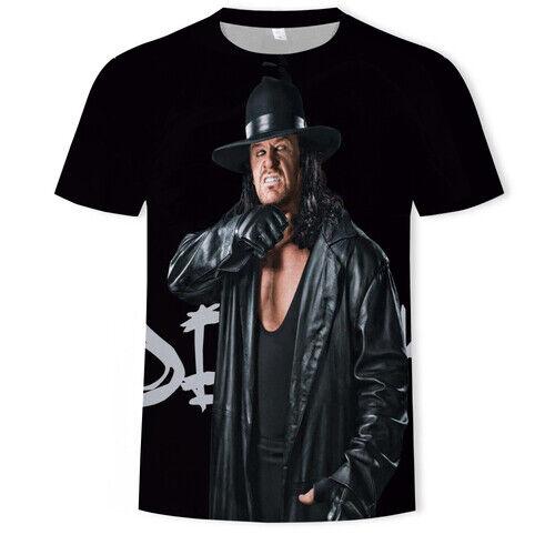Wrestler Undertaker Casual Women Men T-Shirt 3D Print Short Sleeve Tee Tops