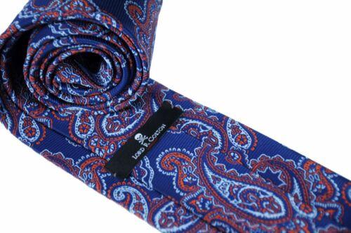 Lord R Colton Studio Tie Royal Blue /& Orange Paisley Woven Necktie $95 New