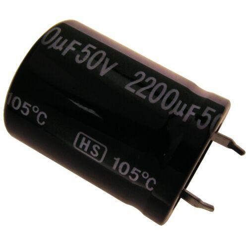 Elko Kondensator Jamicon HS 50V 2200uF RM10 22x30mm 105°C Snap-in 854284