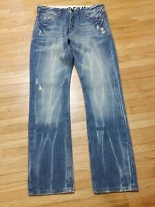 Nine Days Mens Jeans Size 33x33 Straight Distressed Destroyed ...