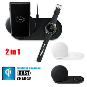 2in1 Qi Wireless Charger Pad Fast Charging For Apple Watch iWatch iPhone XS X