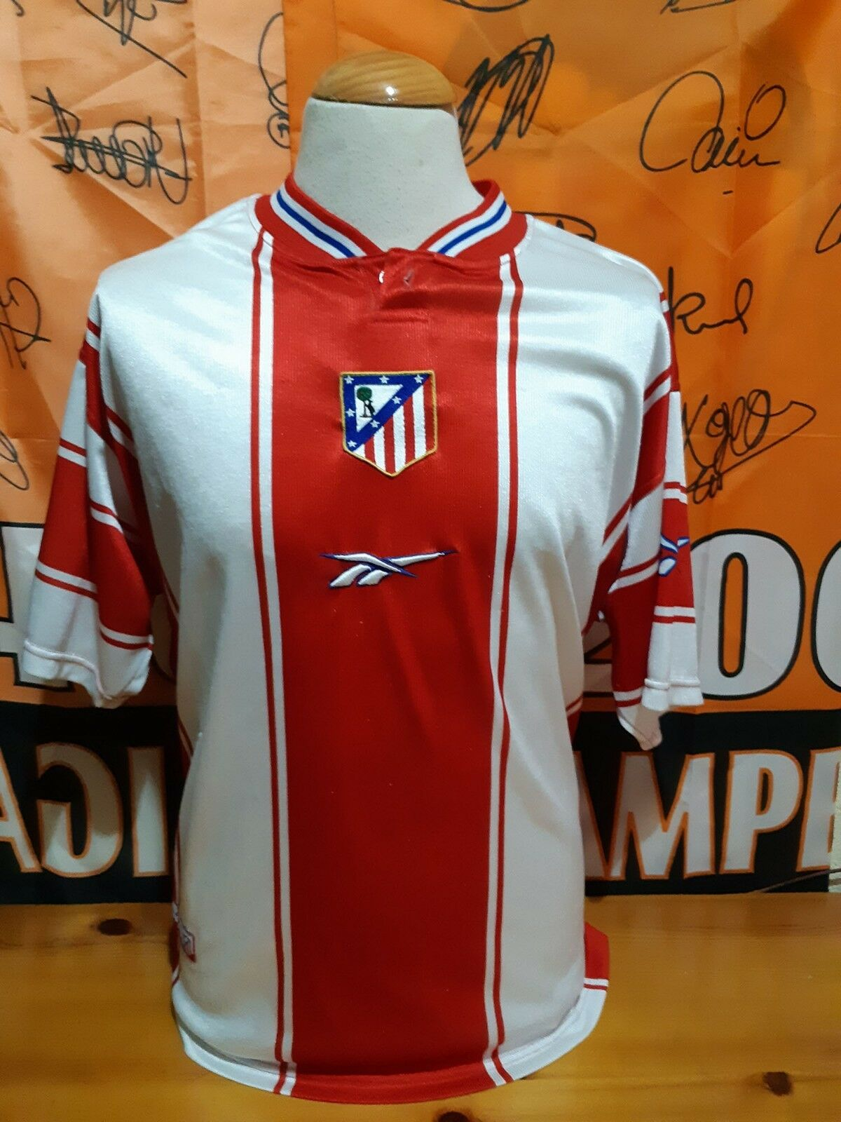T-Shirt Football ATLETICO MADRID 1999-2000 Reebok Shirt Maglia Trikot