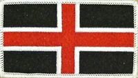 Durham England Flag Tactical Patch With Velcro® Brand Fastener White Border 10