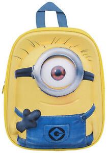 196534842bdd Minions 3 Junior Backpack With One Eye Kids School Trip Back Pack ...