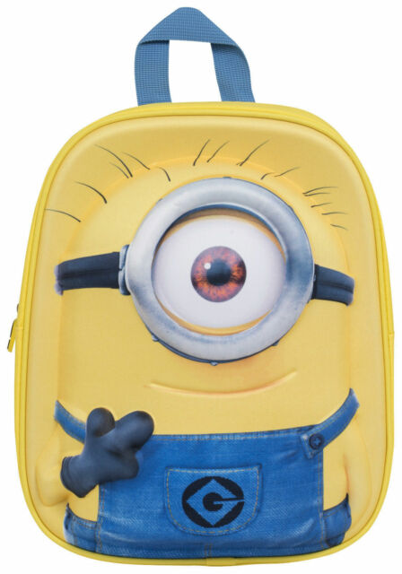 5354eac274 Minions 3 Junior Backpack With One Eye Kids School Trip Back Pack Minion Bag