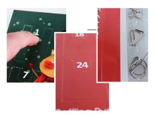 De Noël de l/'Avent Calendrier Kongming Serrure en métal Puzzle jours compte à rebours Brain Teaser