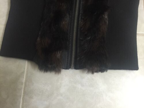 Taille marron en fourrure Gilet Ashley nwt L noir par Premium ZUBnqwF