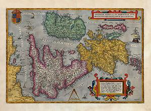 Carte Angleterre Ecosse.Reproduction Des Couleurs Angleterre Ecosse Irlande Gb Ancien Ancien