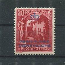 LIECHTENSTEIN DIENST 1932 Nr. 3 B Neugummi gepr. Bühler Mi für ** 240.- d1110