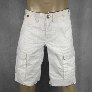 True Religion Jeans men's ISAAC Cargo Shorts WHITE ...