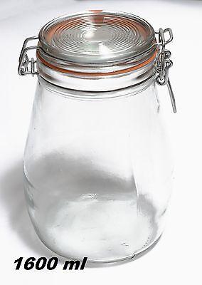 4 Stück 1600 ml Glasdosen  Bügelgläser Einweckgläser Einmachgläser Weckgläser