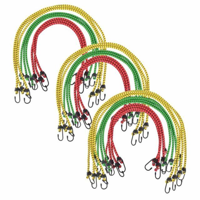 vidaXL 30x Corde Élastique Rouge Jaune Vert Sandows Cordes de Cargaison