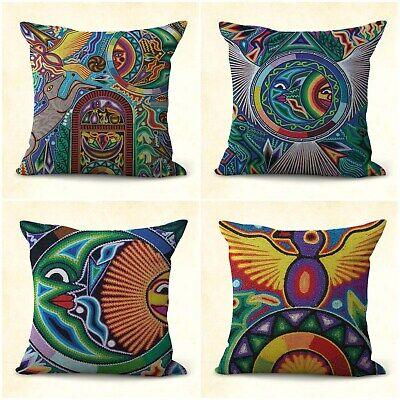 Indigenous Huichol Mexico Art Cushion