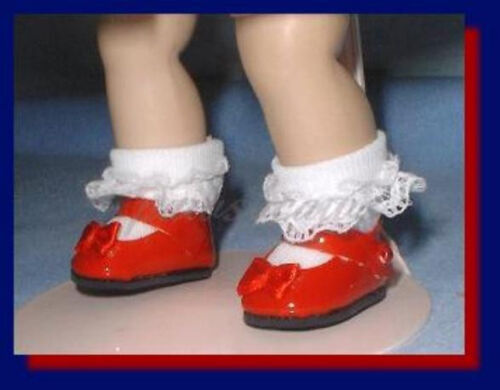 RED  Patent Mary Jane Doll SHOES fit GINNY Ginger Muffie FREE U.S.SHIPPING