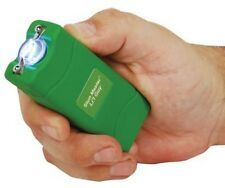12 Million Volt Rechargeable GREEN POLICE Mini Hand Stun Gun + free tazer case
